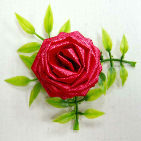 3 5 Red Plastic Ribbon Rose Bow For Wedding Party Decoration Or