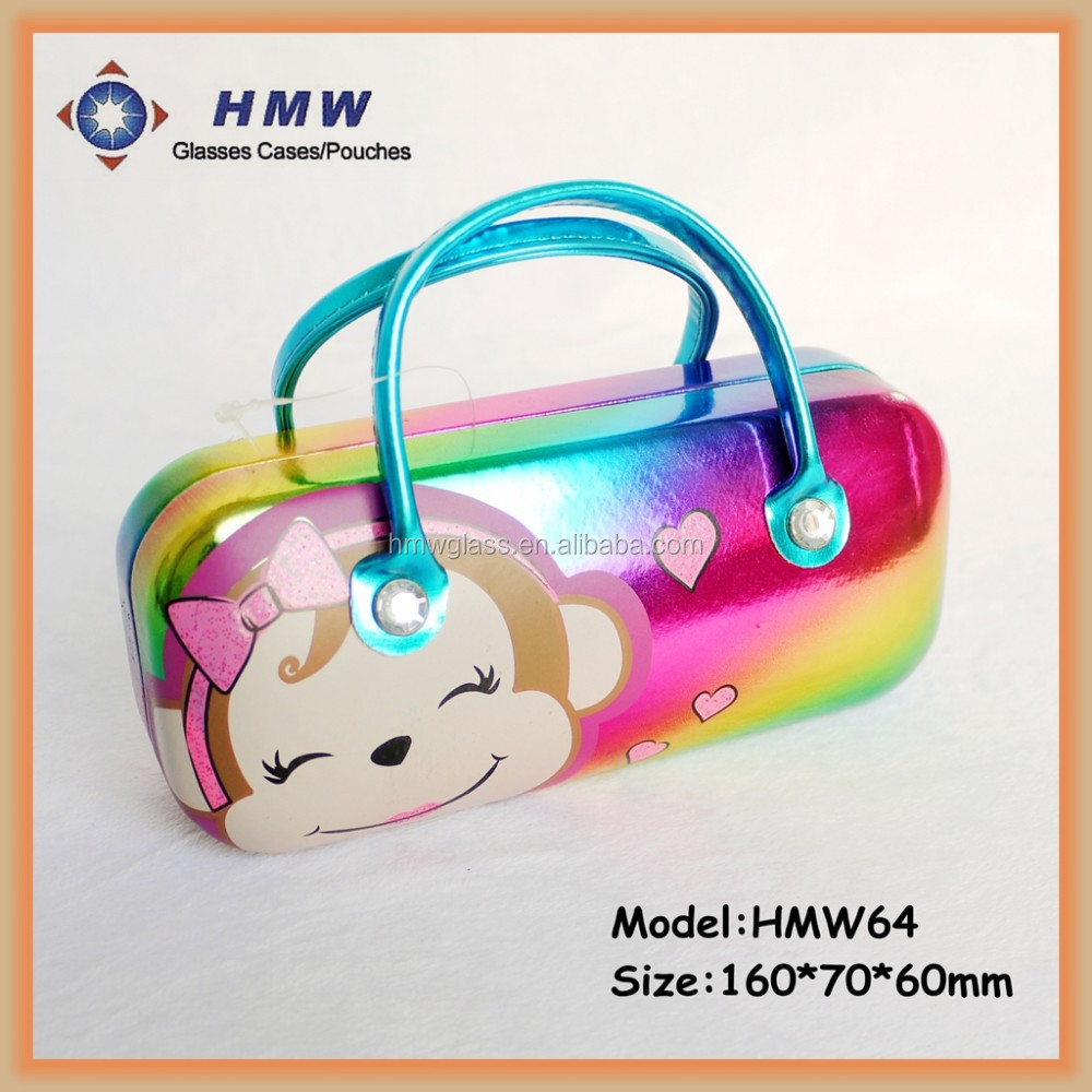 Portable Kids Sunglass Case In Lovely Monkey Rainbow Pattern For ...