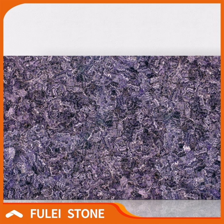 Natural Luxury Purple Gemstone Stone Backlit Amethyst Stone Slabs