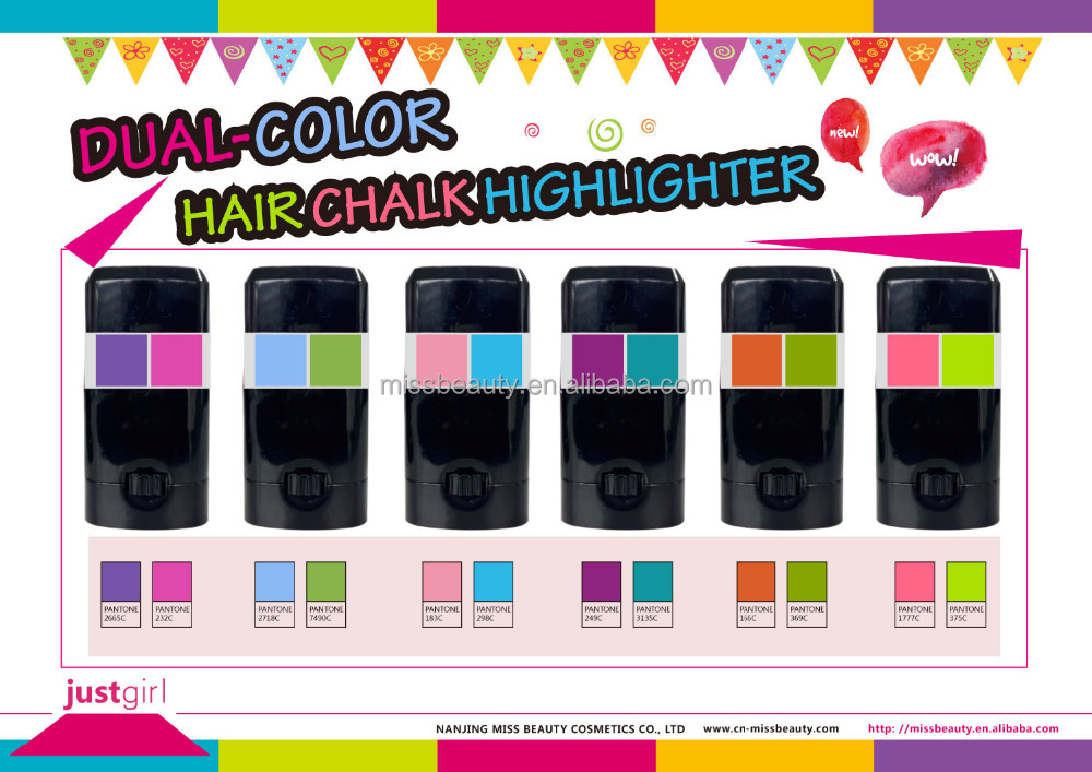 New Scented Dual Color Hair Chalk Highlighter Buy Hair Chalk