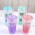 Hot Sale 450ml Double Wall Plastic Cup,Tube Cup Japan,Water Bottle