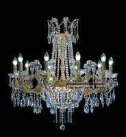 crystal and bronze chandeliers diameter 80cm