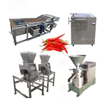 Pepper paste chili sauce processing machines product production line pepper paste grinder chili sauce machine