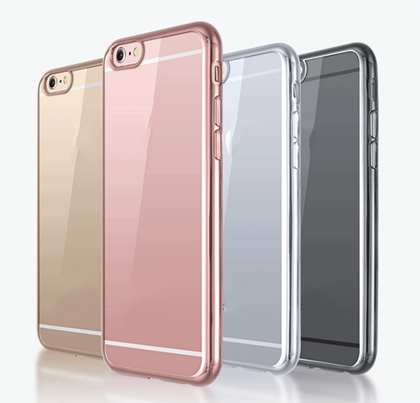 Shenzhen mobile phone accessories factory supplier wholesale price electroplating protective case for iphone5s 6 6s plus