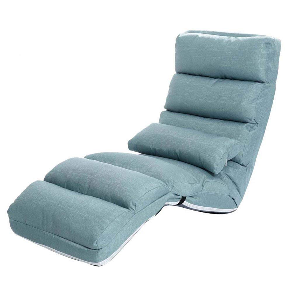 ZXQZ Recliners Home Sofa Lounge Chair Bedroom Folding Chair Portable Chaise Lounge Living Room Lazy Chair (Color : Green, Size : 1#)