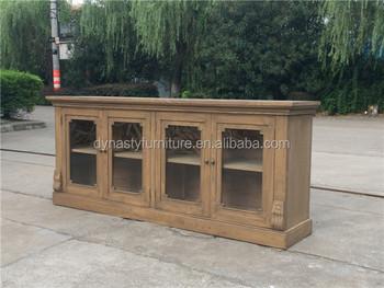 Vintage meubels keuken hout dressoir met glazen deur buy