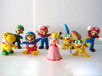 Popular custom carton family plastic action figures