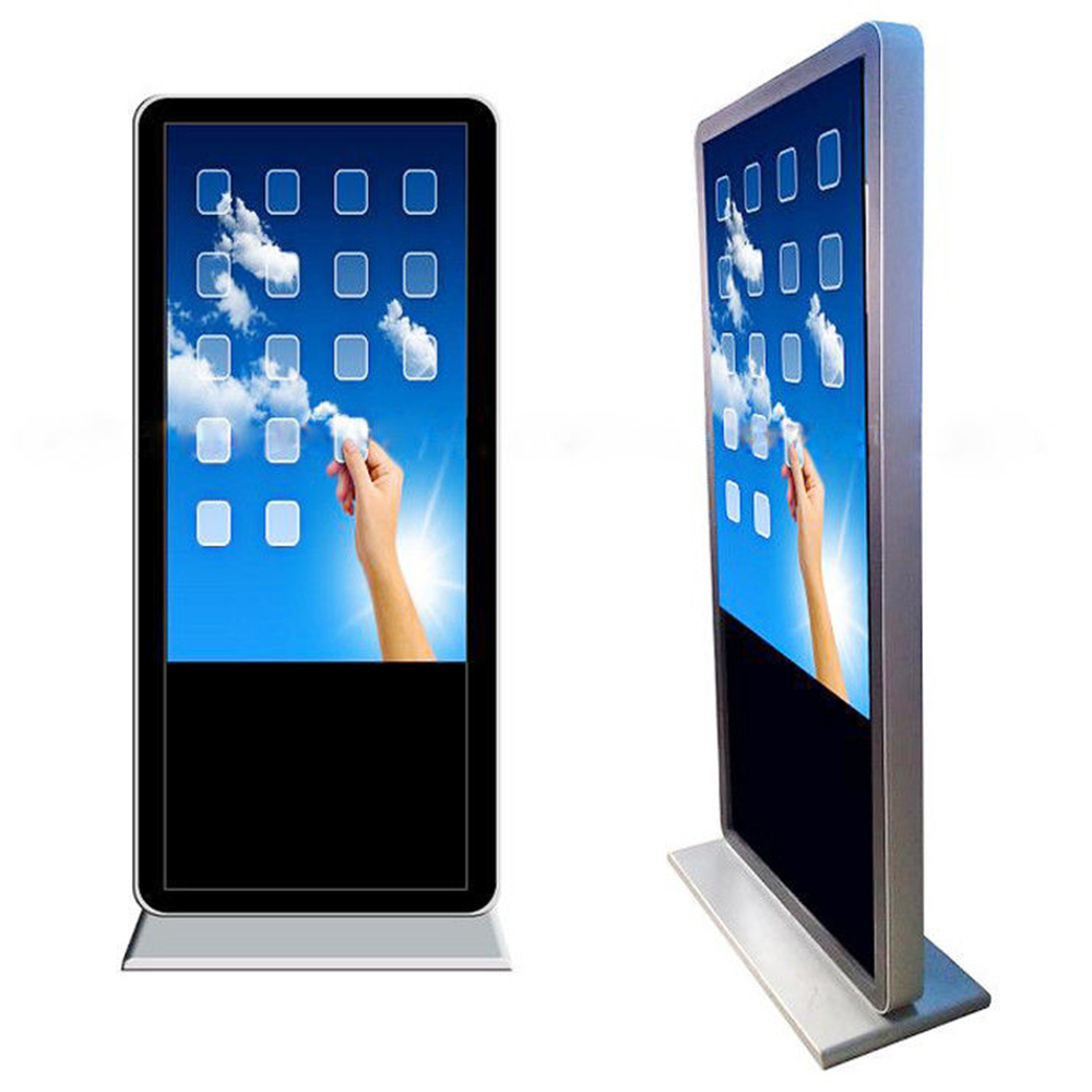 Design fashion high brightness double sided lcd display kiosk 1080p outdoor digital signage