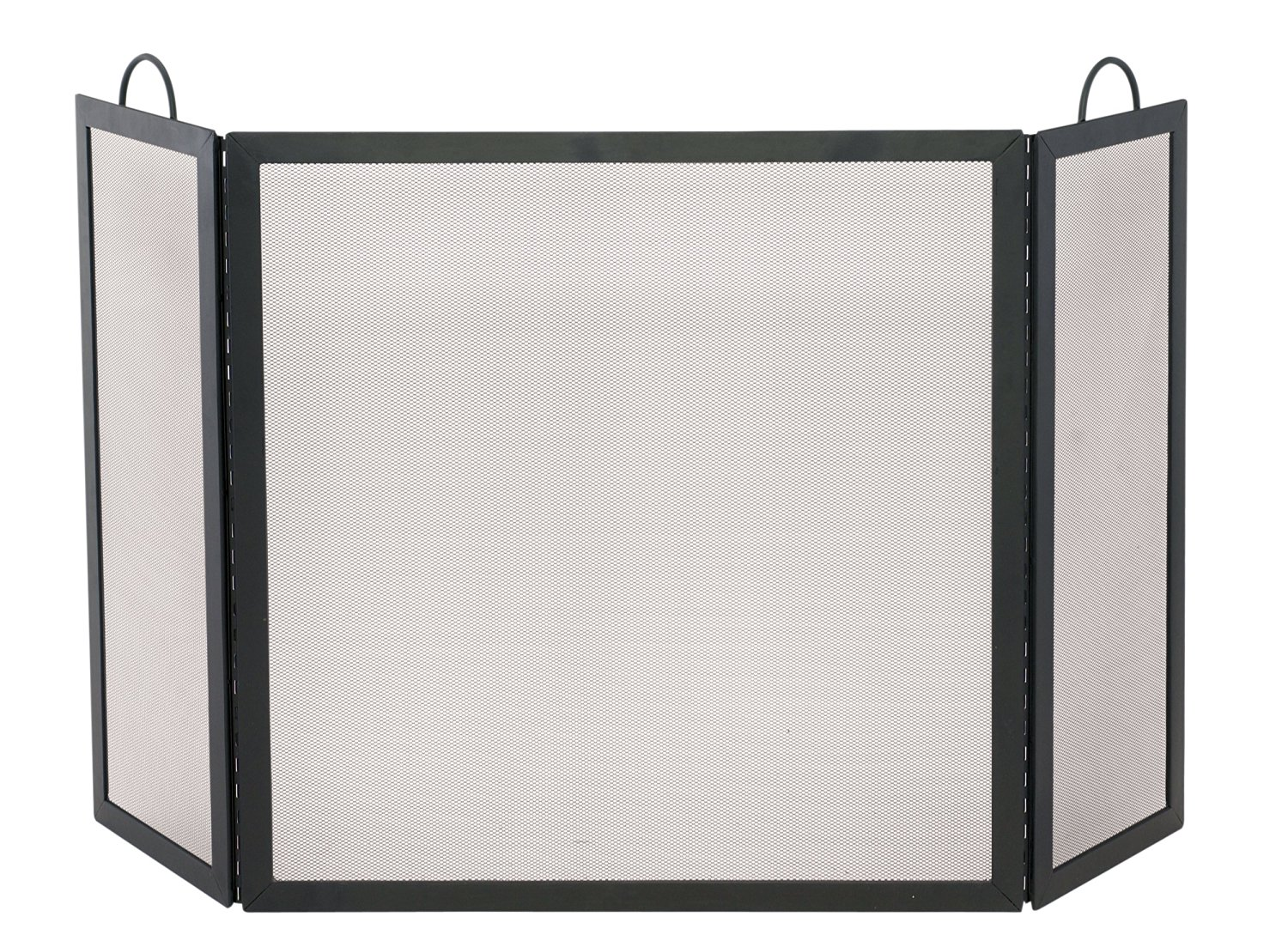 Uniflame S-1504 3 Fold Black Wrought Iron Medium Screen