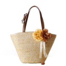 2018 New style wholesale summer beach tote straw bag