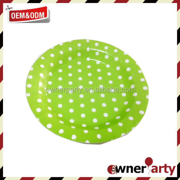 Party Tableware decorations Polka Dot Paper Plates