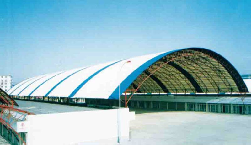 warehouse roof of spring-arched/curved structures
