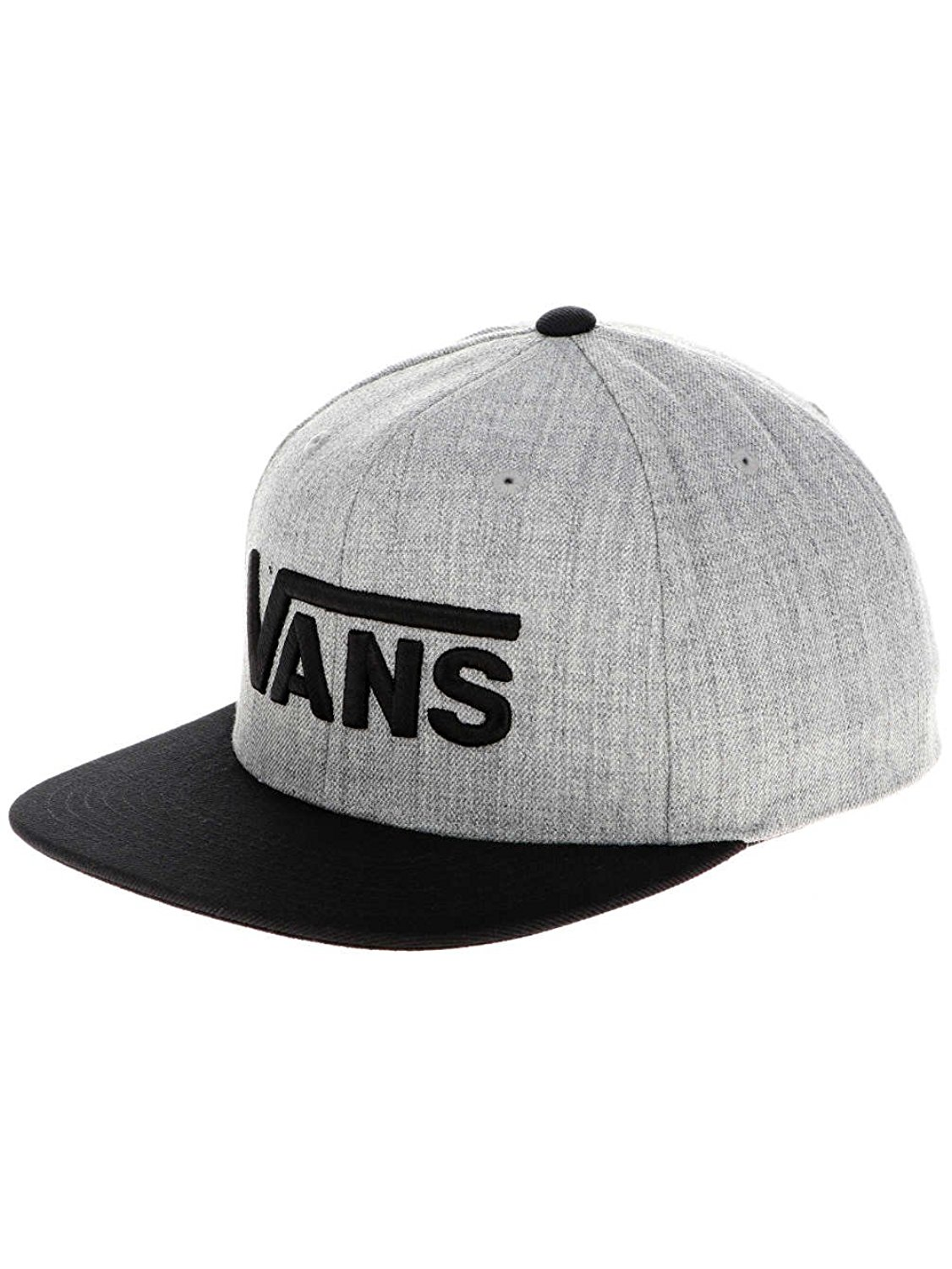 Get Quotations · VANS DROP V SNAPBACK HAT HEATHER GREY HEATHER ONE SIZE 141dbb7a275f