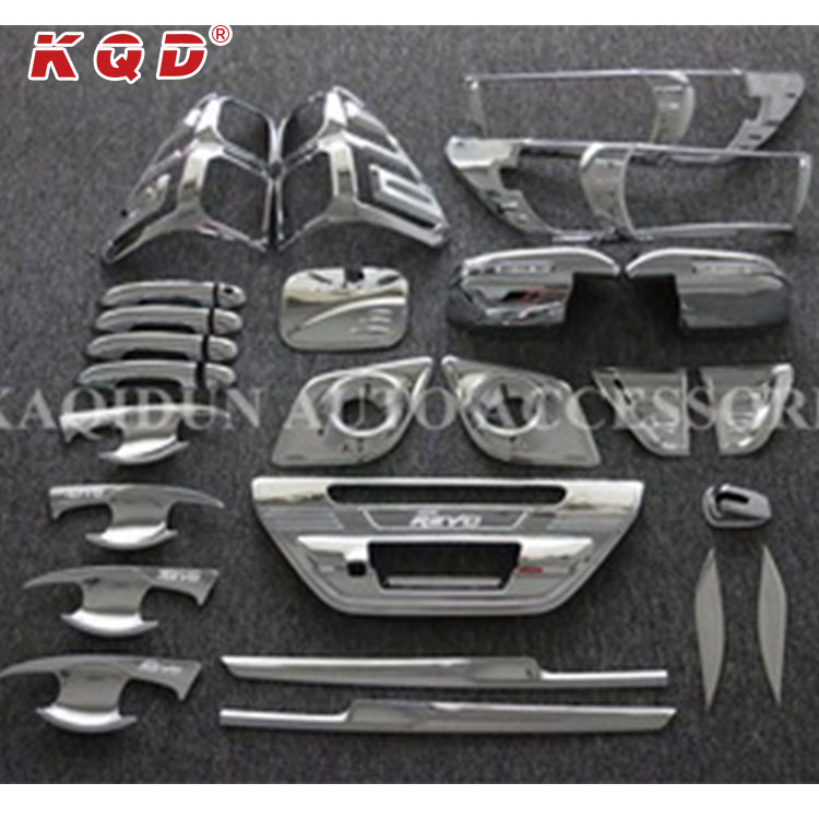 Warranty 1 year automobiles exterior accessories parts 29 pcs chrome body kits for hilux revo 2016