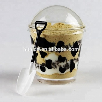 Automatic clear pp plastic dome lid machine for dessert