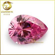 Good quality aaa pear shape loose cubic zirconia pink gemstone names