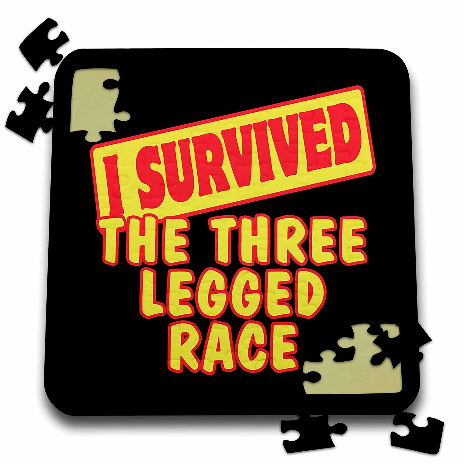 Dooni Designs Survive Sayings - I Survived The Three Legged Race Survial Pride And Humor Design - 10x10 Inch Puzzle (pzl_118397_2)