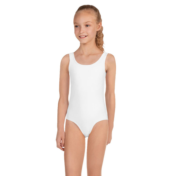 Wholesale Custom Kids One Piece Swimsuit Girls Solid Color White Bikini