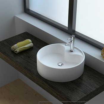 Custom Made European Bathroom Sink Countertop Wash Basinsolid