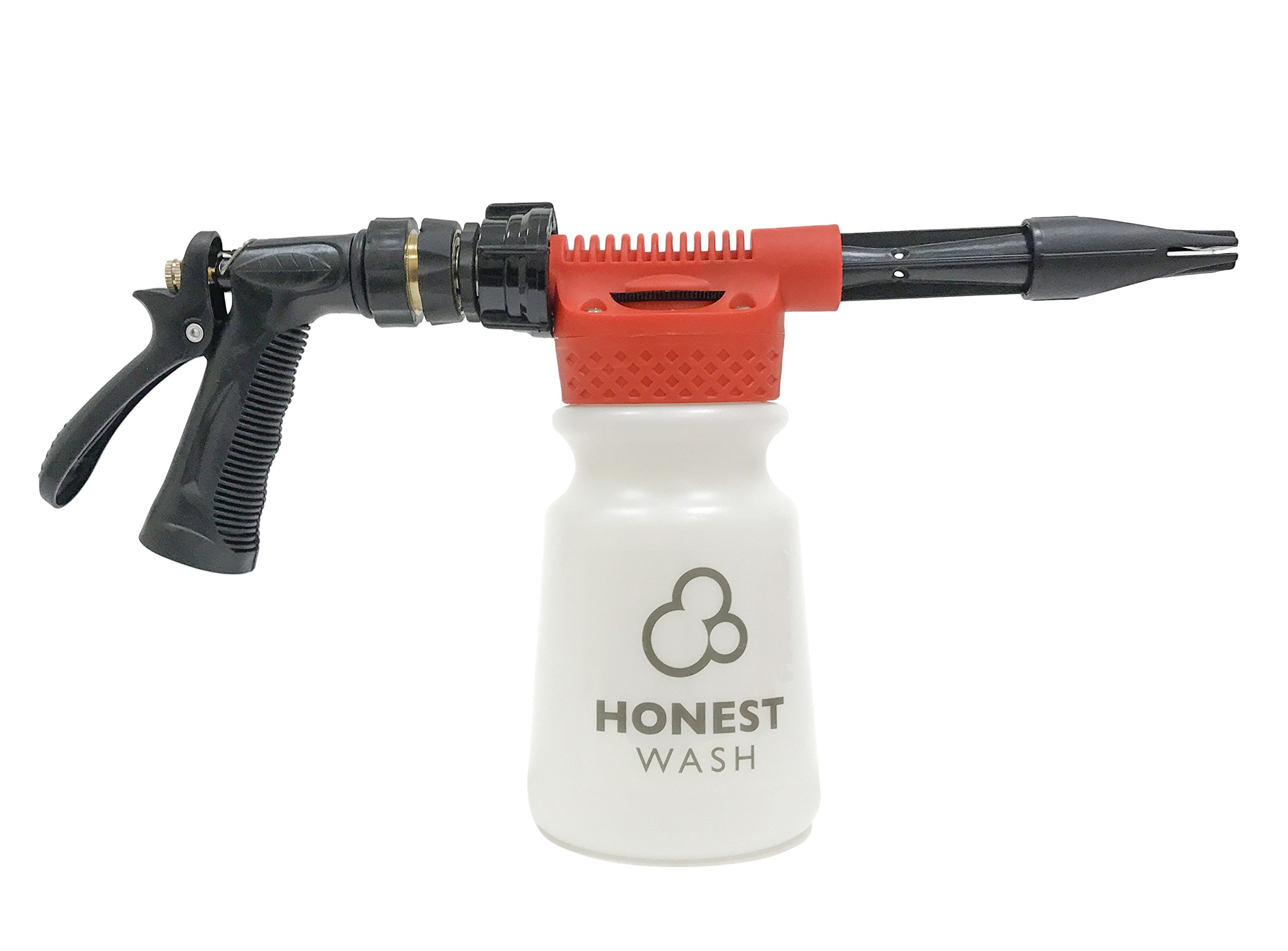Honest Wash Car Care Foam Sprayer, Foam Gun – Foamaster, Foam Blaster – Perfect for Washing Car, Truck, Boat– Produces Thick Car Wash Snow Foam – Connects to any Hose - No Pressure Washer Needed