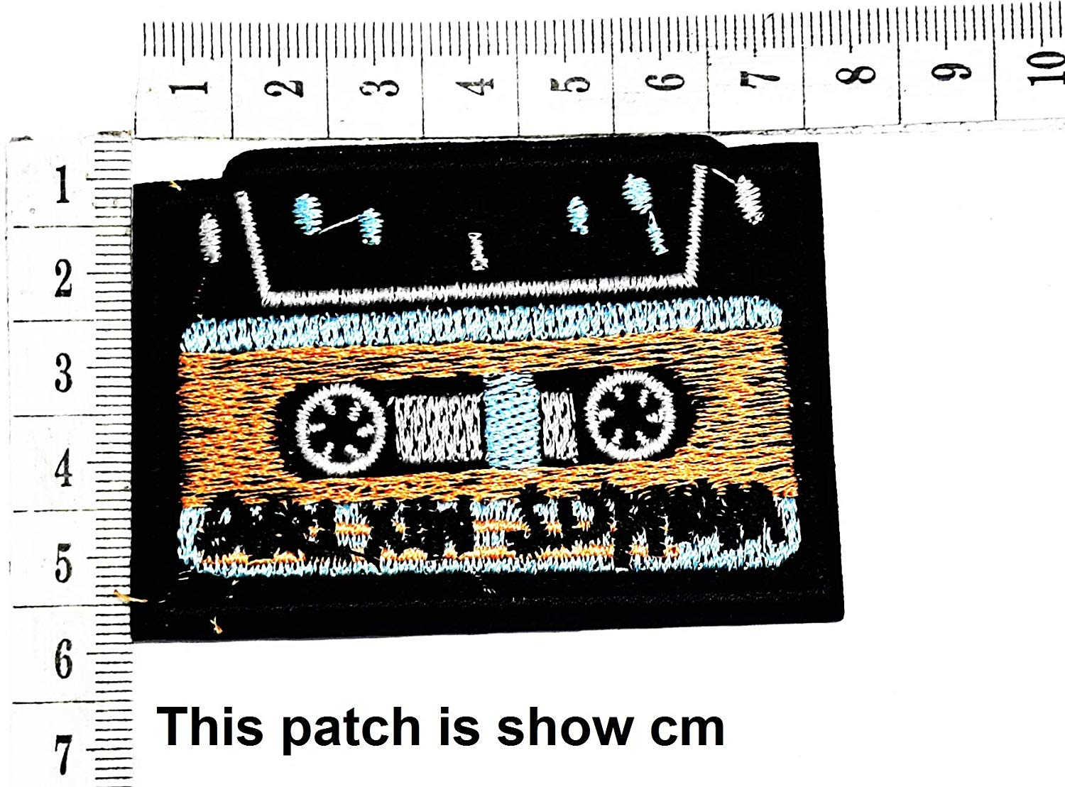 0857f4968 Get Quotations · Cassette Tape Fantasy Cassette Tape Punk Rock Music  Cartoon Chidren Kids Embroidren Iron Patch/Logo