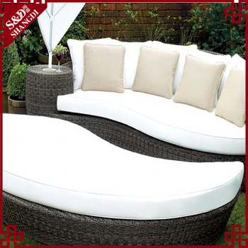 House Leaf Shape Rattan Garden Furniture Wicker Couch ...