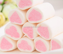 heart shape assorted fruity flavors cotton marshmallow sweets candy low fat mallow