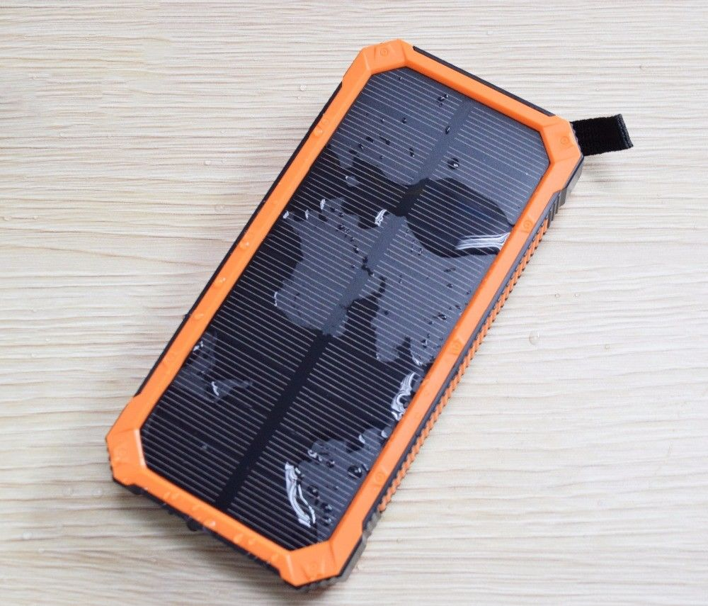 10000mAh charger battery portable powered phone solar laptop phone charger for travel