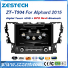 Zestech double din car stereo for TOYOTA ALPHARD 2015 gps bluetooth mp3 mp4