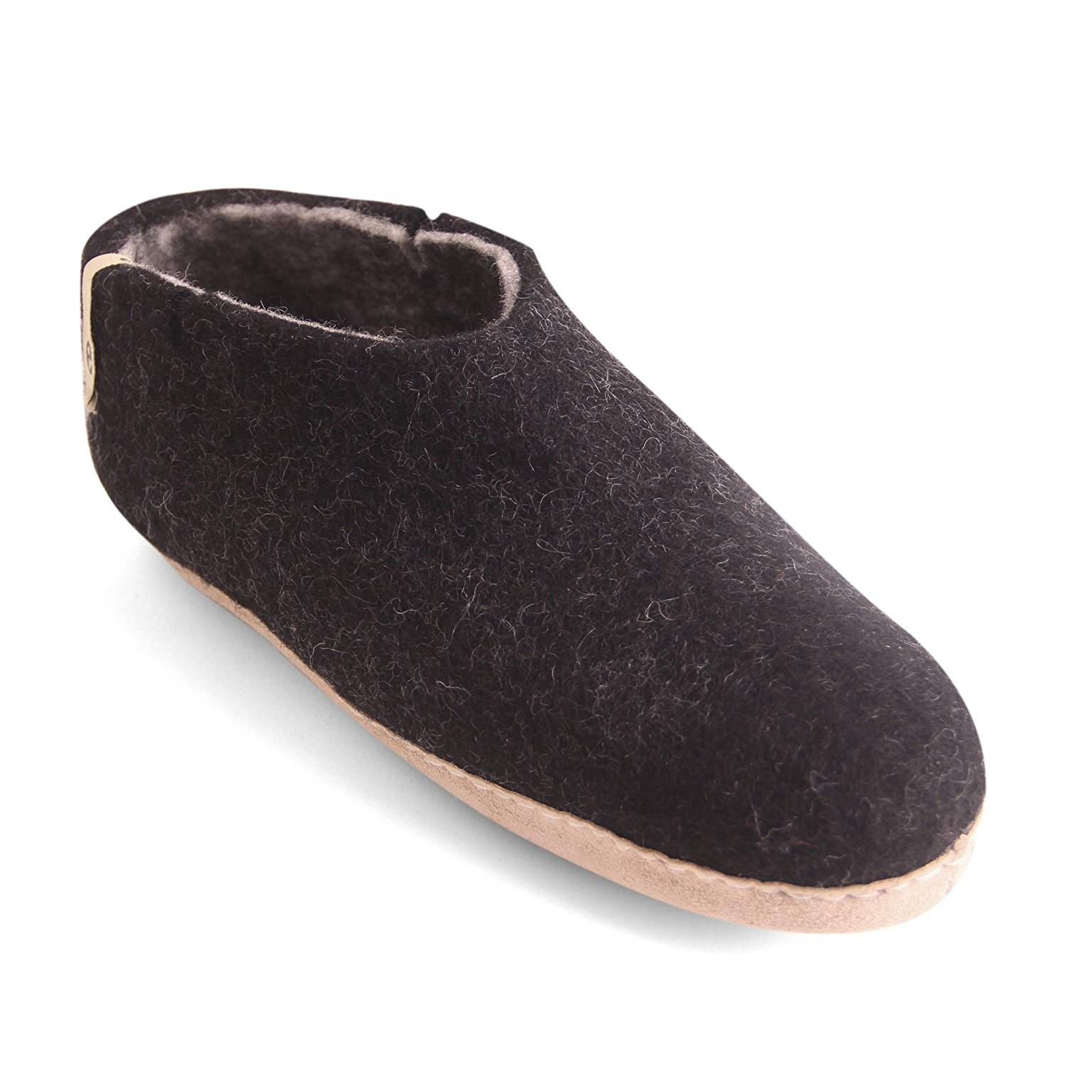 Egos House Slippers: 100% Natural Sheep Wool Handmade Slippers| Warm, Ultra Comfortable & Moisture-Wicking| Deluxe Shoe Classic Slippers with Anti-Skid Leather Sole| Bedroom Slippers for Men, Women &