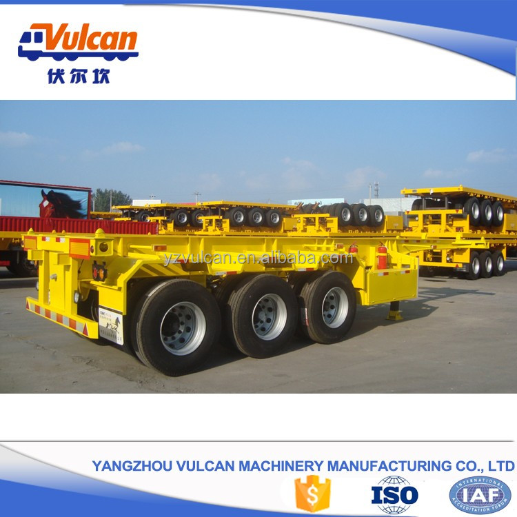 3 axle 40ft container truck transport skeletal trailer for low price