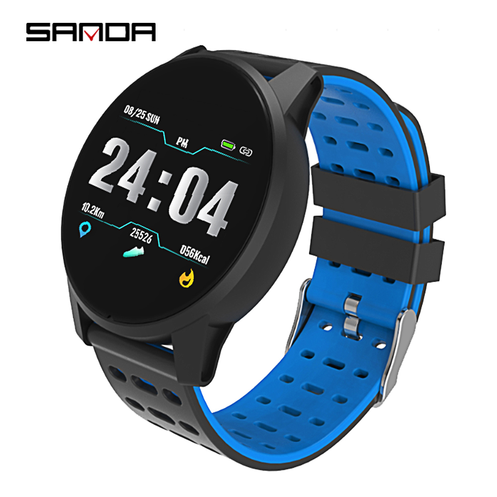 SANDA B2 Men Women Fashion Multi-function Sleep Tracker Digital Watch Smart Hear Rate Monitor Silicone Sport Watch, 4 colors