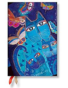 """Blue Cats & Butterflies"" Mini 18-month Academic Weekly Planner, July 2016 to December 2017 (3.5 X 5)"