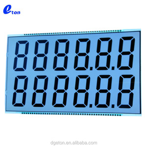 12 digits Large 7 segment display Custom Fuel Dispenser LCD Display