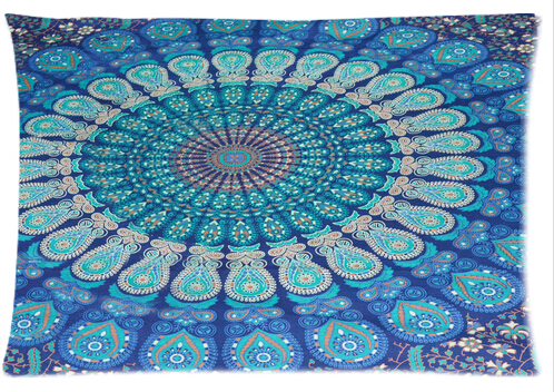 Cool Pillowcase Hippie Mandala Tapestry Hippie Tapestries Style Pillow Case (Twin Sides)(20x30 Inch)