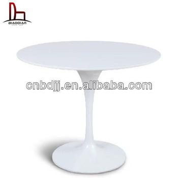 Replica Eero Saarinen Black Fiberglass Round Furniture Wood Tulip Table