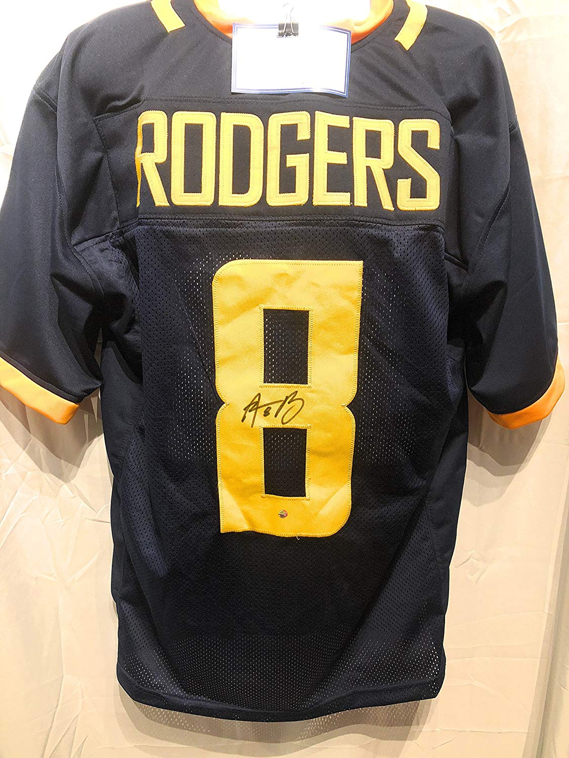 70ea25bf Get Quotations · Aaron Rodgers California Golden Bears Signed Autograph Custom  Jersey Steiner Sports Certified