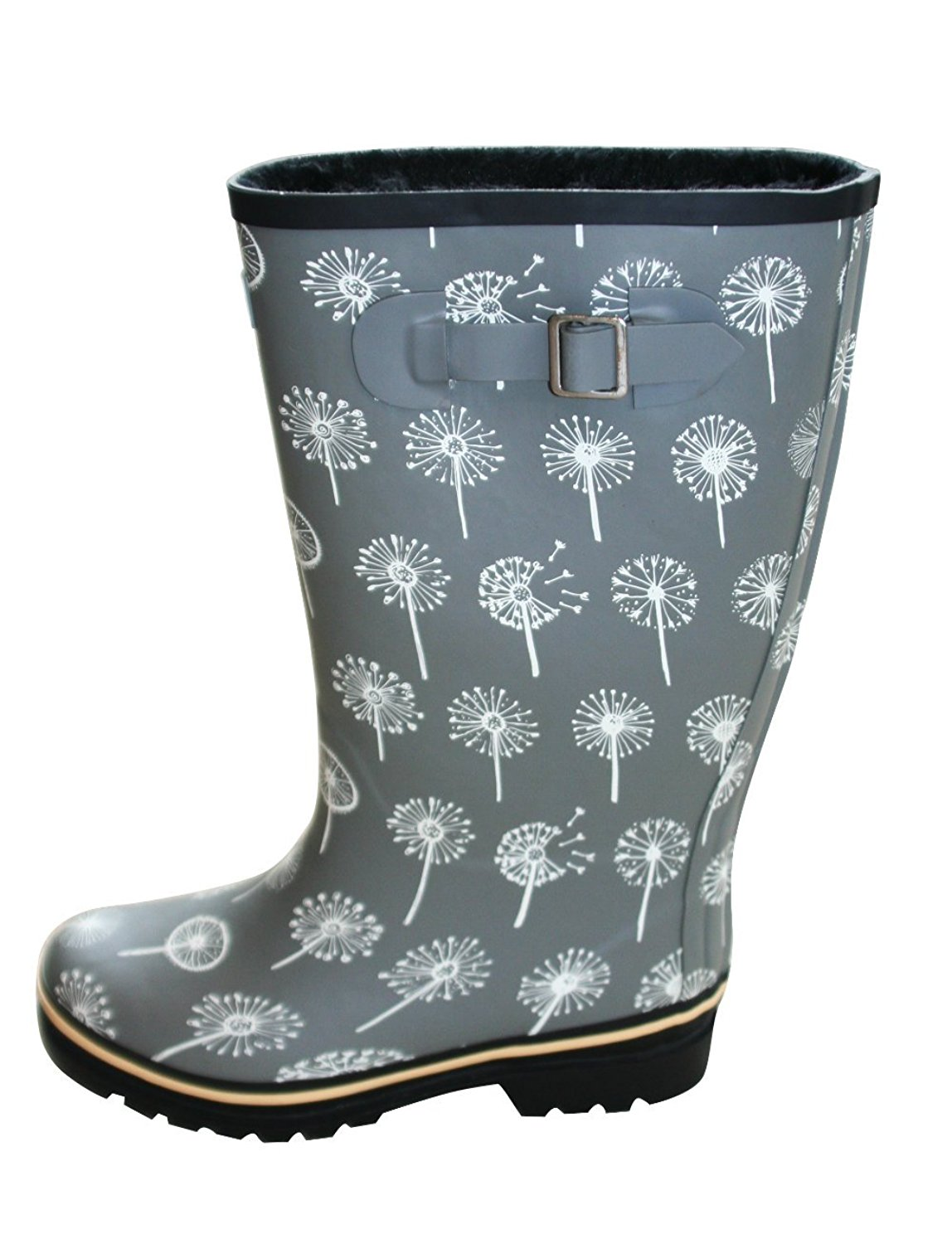 ab3462a7182f Get Quotations · Jileon Wide Calf All Weather Durable Rubber Rain Boots for  Women-Fits Calf Sizes up