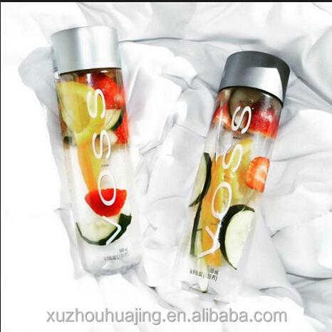 Großhandel Custom 375ml 500ml 800ml 13 unzen 16 unzen 27 unzen Voss Wasser Glas Flaschen Saft Flasche mit Deckel