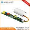 Wide Voltage Input Microwave radar sensor led tube driver for underground parking garage