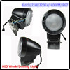 "6"" HID black round offroad working light,driving light H3 flood HID SUV, ATV, 4WD, Tractor,Heavy duty machine"