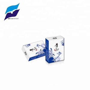 wet water available mini 3 ply facial pocket tissue design for custom wholesale