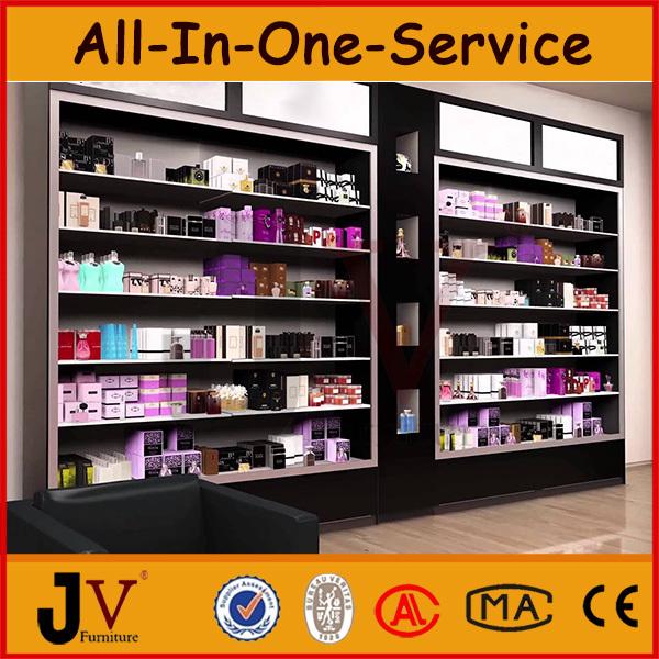 Parfum boutique vitrine décoration pour cosmétique