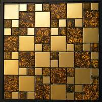 colorful square shape stainless mosaic,mosaic glass,crystal glass mosaic tile