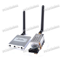 5.8G FPV 2W 12 Ch 2000mW Wireless Audio Video Transmitter AV Sender+ RC5808 Receiver Kit