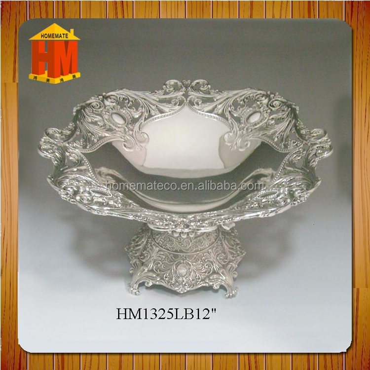 Xsmall size wholesale zinc alloy saudi arabi nuts bread basket/ luxury unique nice shape candy dish / houseware for church party