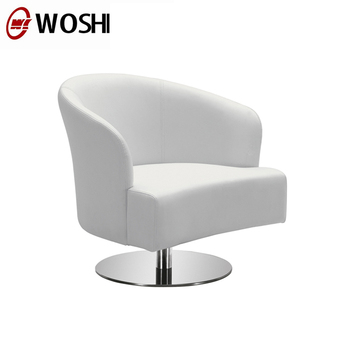 Modern Design White Restaurant Dining Coffee Shop Table And Chair Furniture  Swivel Leather Chair No Wheels