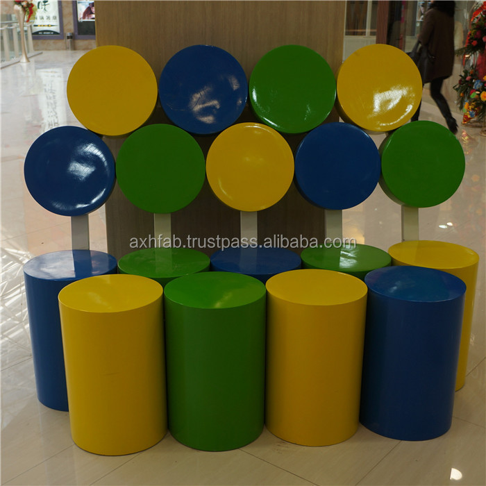 Fresh Style Fiberglass Chair For Living Room Porch Balcony Shopping Mall