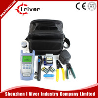 9 In 1 Fiber Optic FTTH Tool Kit with FC-6S Fiber Cleaver and Optical Power Meter 10Mw Visual Fault Locator Wire stripper