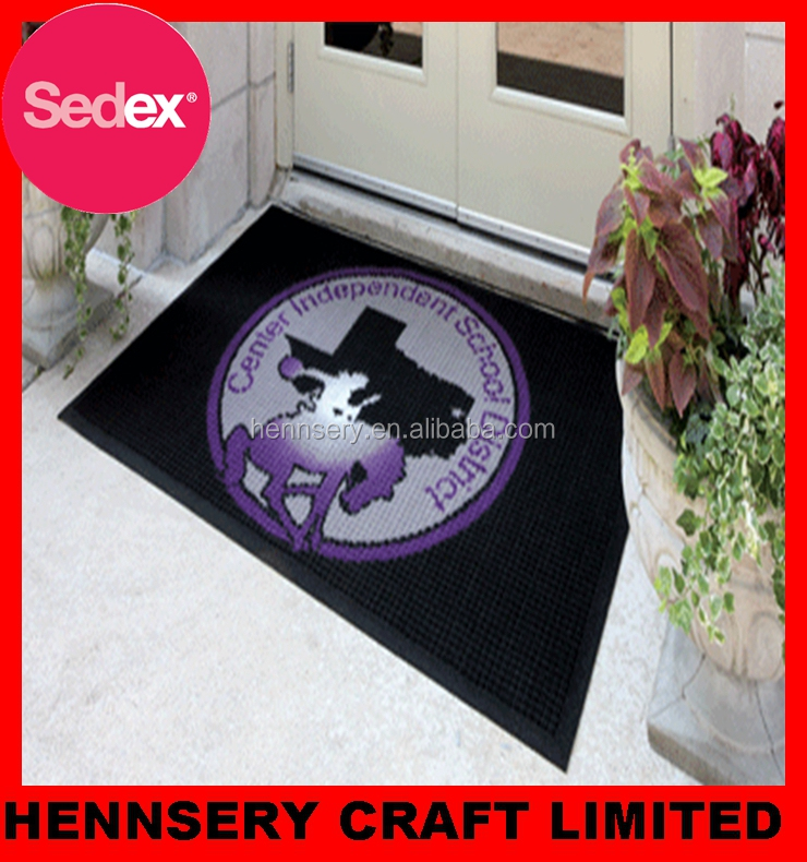 Good price large plastic floor mat with custom logo